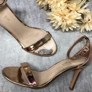 Madden Girl Gold Ava Ankle Strap Heel Size 9